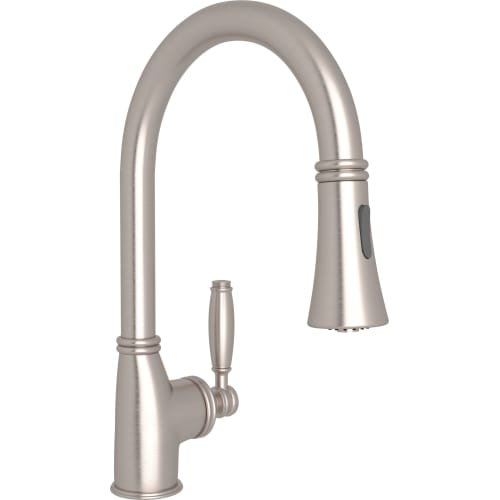 ROHL MB7927LMSTN-2 Michael Berman Bar/Food Prep Pull-Down Kitchen Faucet, Satin Nickel