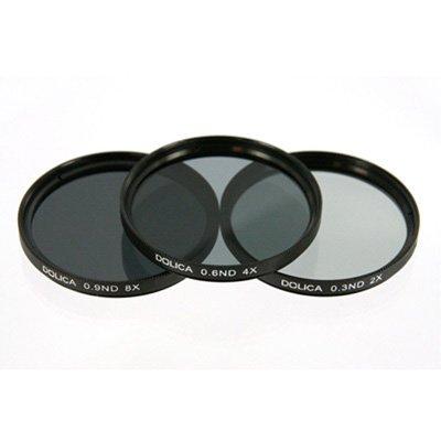 Dolica CF-NDK58 58mm 0.3, 0.6, 0.9ND Neutral Density Filter Kit