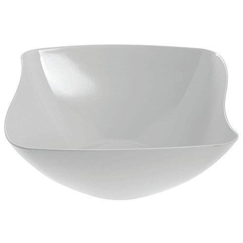 """G.E.T. Square White Melamine Flared Bowl - 15""""L x 15""""W x 6 1/4""""H"""