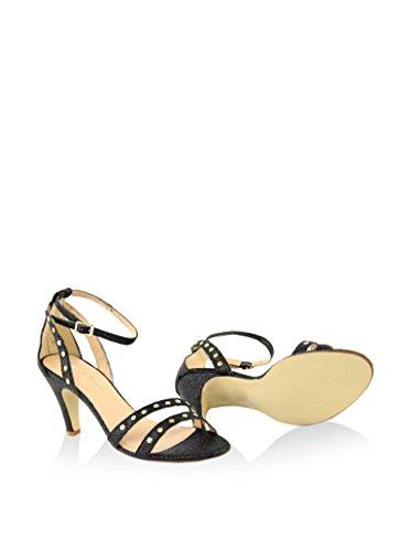 GIORGIO PICINO - FEMME -8035505_GLITTER_GRANA_NERO sandale à talon