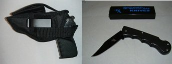 Smith & Wesson Cs9 Gun Holster, Hunting, Target, Security, Law Inforcement, 312,, Comes with a Free Folding Knife