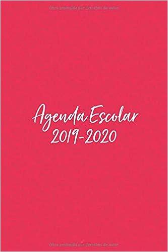 Agenda Escolar 2019-2020: Con diseño en Rosa Mexicano. Para ...