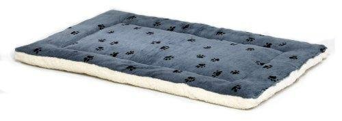 MidWest Quiet Beds Equipment Time 24Inch Paw Print/Fleece Reversible Pet Bed