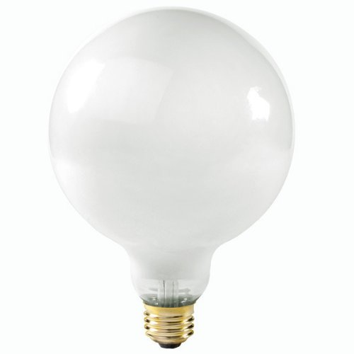 Satco S3004 120-Volt 150-Watt G40 Medium Base Light Bulb, Gloss White (G40 Screw Medium)