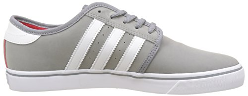 Adulte Adidas Mixte scarlet Skateboard grey footwear Gris Chaussures White Seeley De nX7RSBn