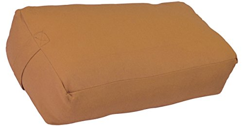 YogaAccessories Supportive Rectangular Cotton Yoga Bolster - Fawn