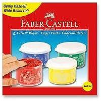 Faber-Castell 5170160412 Parmak Boyası, 45 Ml, 4 Renk