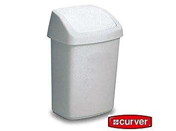 Awesome Curver Abfallbehälter 25l 50l Abfalleimer Mülleimer Mit Schwingdeckel  Schneeweiß, GRÖSSE:50Liter Amazing Design