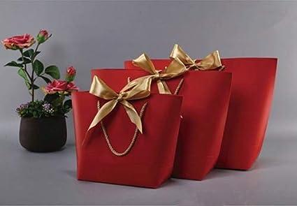 FGEAHDG caja de regalo Caja de regalo dorada grande Pijamas Ropa Empaquetado de libros Mango dorado Bolsa de cartón 46x33x13cm H: Amazon.es: Oficina y papelería