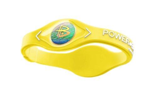 Power Balance Bracelet Yellow w/White letters Small