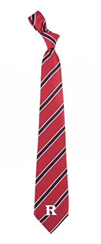 Rutgers Scarlet Knights Striped Mens Neck Tie with NCAA College Sports Team Logo