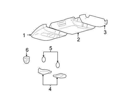 Ford Genuine 4L3Z-18519A70-AAM Overhead Console Assembly