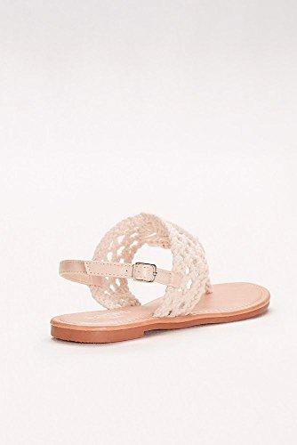 Davids Brude Makramé-veve Slingback Sandaler Stil Brooklyn Elfenben