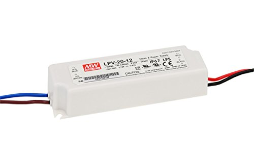 Price comparison product image MW Mean Well LPV-20-12 12V 1.67A 20W Single Output LED Switching Power Supply