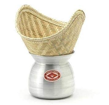 Diamond Reisdampfer Laos Pot Und Bambuskorb Zum Dampfgaren Von