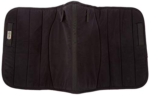 Exselle Dressage Double Back Saddle Pad, Black, 24 1/2-Inch (Back Saddle Pad)