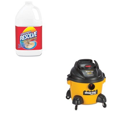 KITRAC97161SHO9650610 - Value Kit - SHOPVAC Right Stuff Wet/Dry Vacuum (SHO9650610) and Professional RESOLVE Carpet Extraction Cleaner (RAC97161) by SHOPVAC