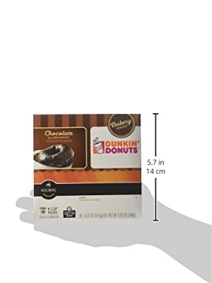 Dunkin Donuts Bakery Series Chocolate Glazed Donut Flavored Coffee K-Cups For Keurig K Cup Brewers - 32 Pack