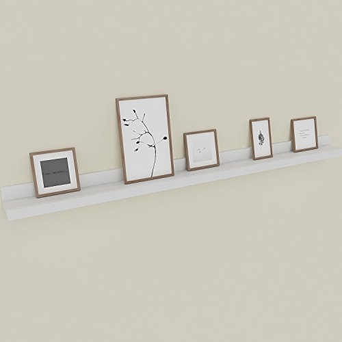 - Wall Mounted Floating Shelf Display Ledge Shelf for Picture Frames Book (Wall Mounted Floating Shelf_White_48in)