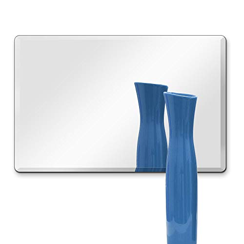 "TroySys Rectangle 1/4"" Thick Beveled Polished Mirror with Hooks"