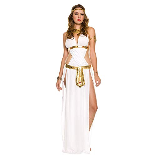 LVLUOYE Role-Playing Costume, White Venus Goddess, Greek Goddess Costume, Cleopatra -