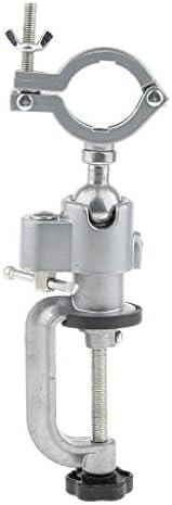 perfk ミニベンチ 360度 バイス クランプ ベンチ 万力 多機能 電気ドリル 固定用具 アルミ合金
