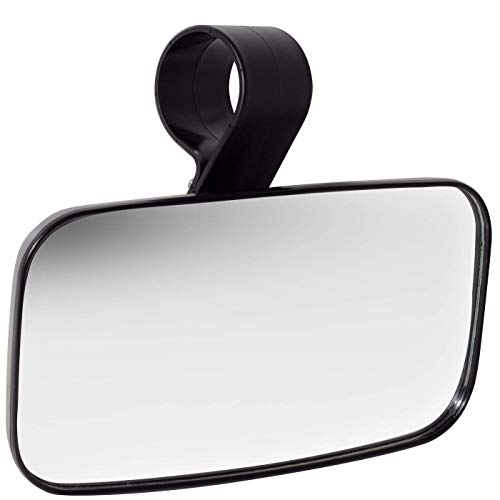 Topmount Utv Clear Rear View Center Mirror   High Impact Abs Housing Shatter Proof Tempered Glass Mirrors