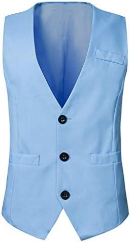 QIQIDEDIAN 釣りベスト ベストシーズンファッション無地スリムスーツベストベストメンズカジュアル毎日シングルブレストジャケット汎用性の高い (Size : M)