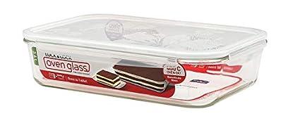 LOCK & LOCK Auflaufform aus Glas für den Backofen - Oven Glass Turkey - Lasagneform mikrowellengeeignet - Glastopf zum Kochen