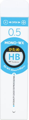 Tombow Mono WX Spare Pencil Lead, HHB, 0.5mm, 40-Pack by Tombow (Image #1)