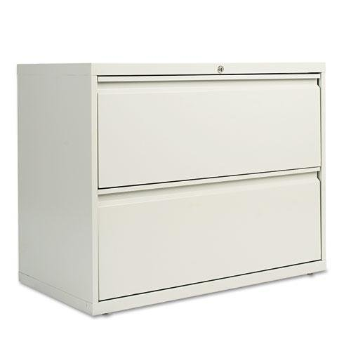 Alera LF3629LG Two-Drawer Lateral File Cabinet, 36w X 19-1/4d X 28-3/8h, Light Gray (Cabinets Gray Light File)