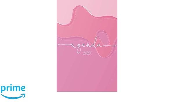 Agenda 2020: Pintura Rosa Planeador Anual Mensual Semanal de ...