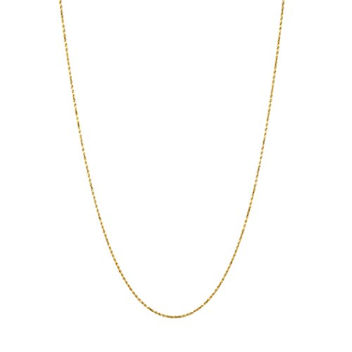 IcedTime Solid 14K Yellow Gold 1.5mm Wide Rope Chain Diamond Cut Anklet with Lobster Clasp 10'' long by IcedTime (Image #2)