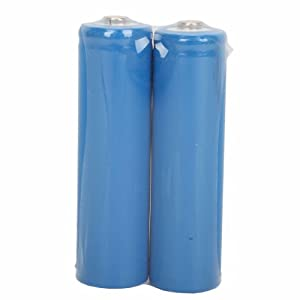 2pcs 3.7V 1200MAH 14500 Rechargeable Lithium Battery Blue