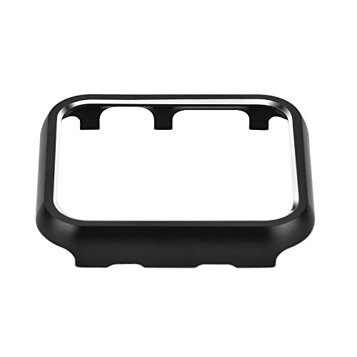Clatune Aluminum Alloy Bumper Case Protective Metal Frame Cover Shell Compatible with 38mm Apple Watch Series 3/2/1 - Black