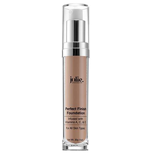 Jolie Perfect Finish Liquid Foundation Makeup SPF 15 Oil Free (DC1) (Best Velvet Finish Foundation)