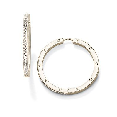 Sabo Earrings Thomas (Thomas Sabo Hinged Hoop Earrings with White Zirconia)