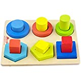 May & Z Wooden shape toy sets Stacking Sorter Chunky Puzzle Geometric Block