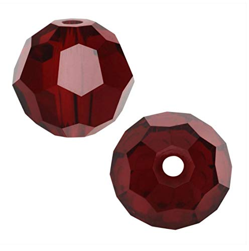 50pcs Swarovski 6mm #5000 Round Siam Red Crystal Beads for Jewelry Craft Making (January Birthstone) SWAR605