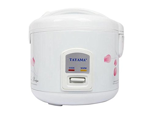 TRC-08 Cool Touch 8-Cup Rice Cooker and Warmer with Steam Basket, White