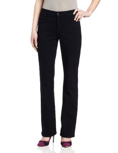 (NYDJ Women's Petite Barbara Bootcut Jeans, Black, 6P)