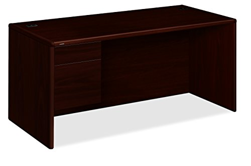 - HON 10784LNN 10700 Series 66 by 30 by 29-1/2-Inch Desk with 3/4 Height Left Pedestal, Mahogany