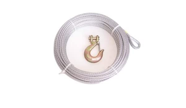 Galvanized Steel Winch Cable Advantage 3//8 7x19 50 ft with 3//8 G70 Clevis Slip Hook