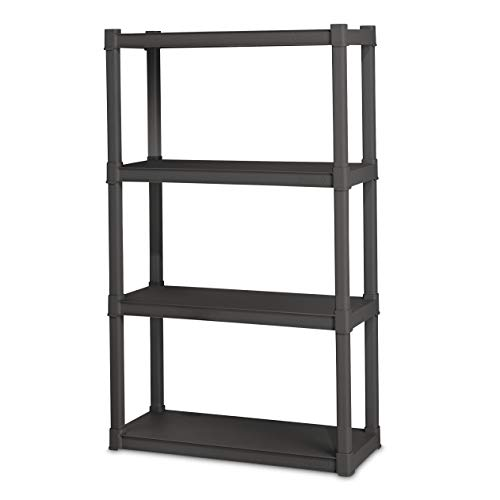 Sterilite 01643V01 4 Shelf Unit, Flat Gray Shelves & Legs, 1-Pack]()