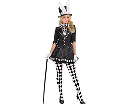 AMSCAN Dark Mad Hatter Halloween Costume for Women, Large, with Included Accessories -