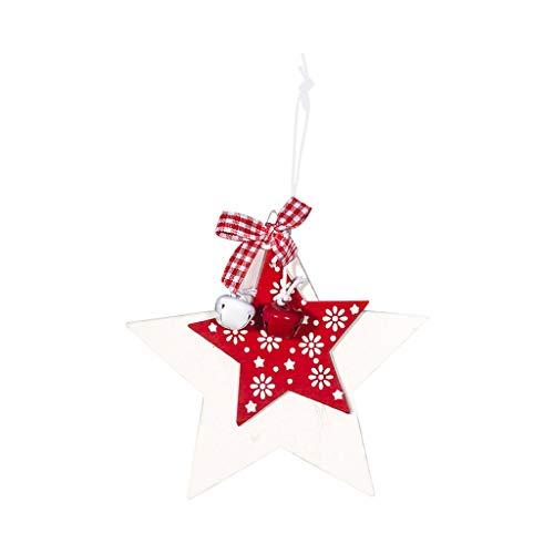 Fiaya Christmas Tree Decor Bells Ornaments 2020 New Year Christmas Doll Xmas Star Handmade Plush Best Gift Toy (1PC Christmas C) (Best Climbing Tree Stand 2019)