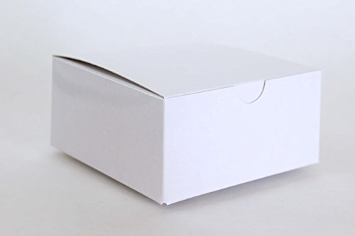 White Favor or Gift Box 4 X 4 X 2 | 12 Ct
