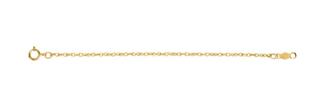 14k Yellow Gold 1.25mm Rope Chain Bracelet, 7'' by The Men's Jewelry Store (Unisex Jewelry) (Image #1)