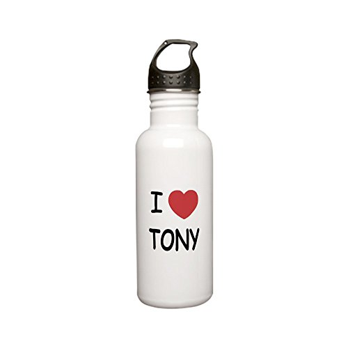 tony Stainless Water Bottle 0.6L - Stainless Steel Water Bottle, 0.6L Sports Bottle (Tony Stewart Heart)