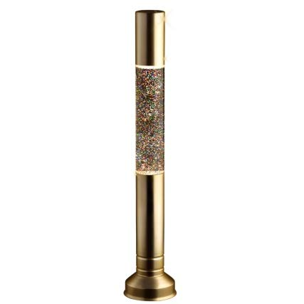 Silver 57cm Flat Top Tall Glitter Lava Lamp Provide A Warm Glow In The Bedrooms